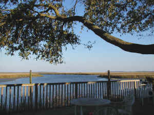 St Simons Island Georgia river and marsh views